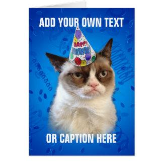 Mürrische Katze Customizeable alles Gute zum Grußkarte