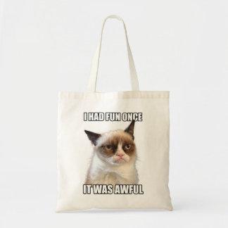 Mürrische Katzen-Tasche Budget Stoffbeutel