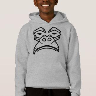 Mürrischer schauender Gorilla Hoodie