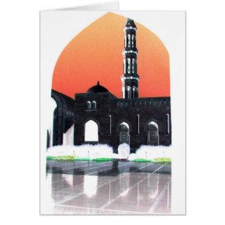 Muscat-Moschee am Sonnenuntergang Karte