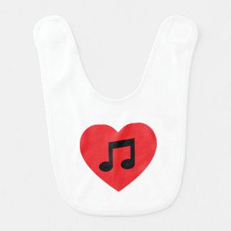 Musik-Anmerkungs-Herz Babylätzchen