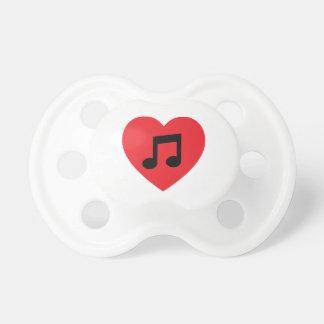 Musik-Anmerkungs-Herz Schnuller
