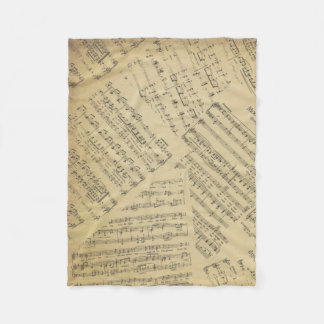 Musik Anmerkungs-Muster-Musik-Thema-Fleece-Decke Fleecedecke
