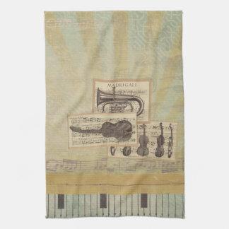 Musik Anmerkungs-Muster-Musik-Thema-Geschirrtuch Handtücher