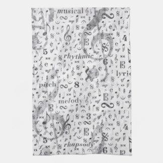 Musik Anmerkungs-Muster-Musik-Thema-Geschirrtuch Küchenhandtücher