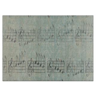 Musik Anmerkungs-Muster-Musik-Thema-Schneidebrett Schneidebrett