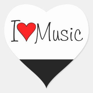 Musik des Herzens I Herz-Aufkleber