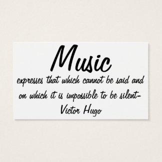Musik drückt… aus visitenkarte