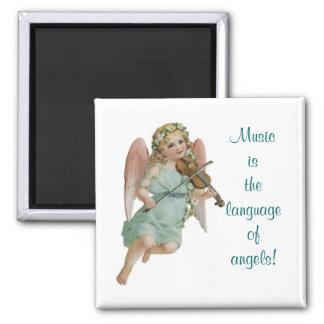 Musik-Engel Quadratischer Magnet