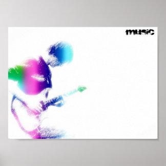 Musik-Gitarren-Plakat Poster