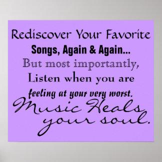 Musik heilt Ihr Soul-Plakat Poster