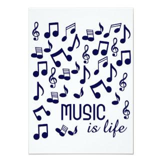 Musik ist Lebeneinladung 12,7 X 17,8 Cm Einladungskarte