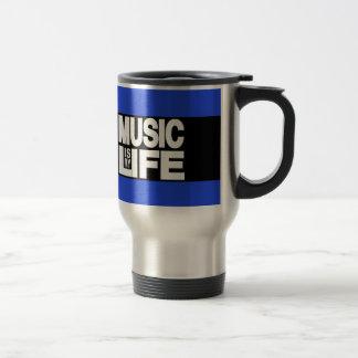 Musik ist mein Leben-Blau Reisebecher