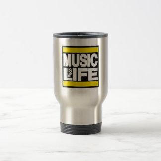 Musik ist mein Leben-Gelb Reisebecher