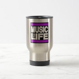 Musik ist mein lila Leben Reisebecher
