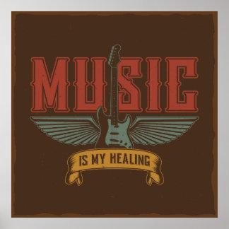 Musik ist meine heilende Inspiration Poster