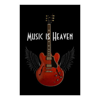 Musik ist Plakat des Himmels-6 x 24