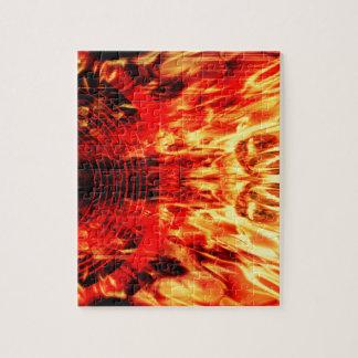 Musik-Lautsprecher mit Flammen Puzzle