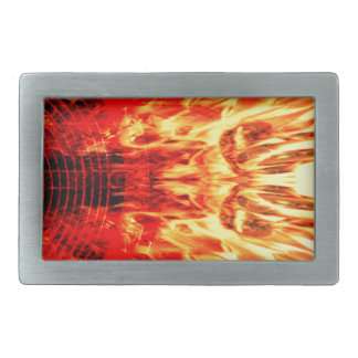 Musik-Lautsprecher mit Flammen Rechteckige Gürtelschnallen