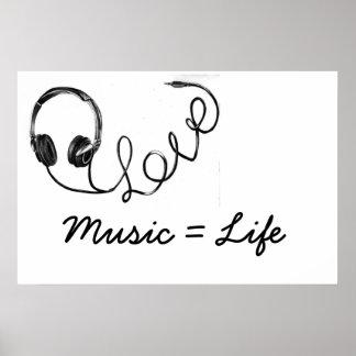 Musik = Leben Poster