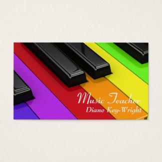 Musik-Lehrer-Klavierstunde-Visitenkarte Visitenkarten