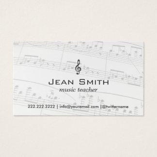 Musik-Lehrer-Musiknoten elegant Visitenkarte