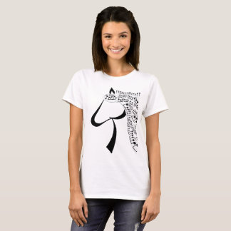 Musik-Mähnen-Pferd T-Shirt