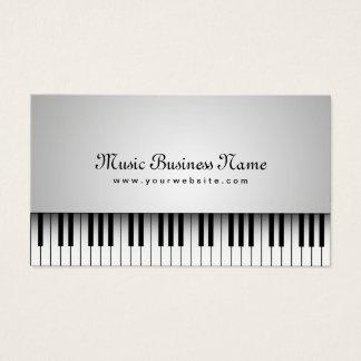 Musik-schöner weißer Flügel Visitenkarten
