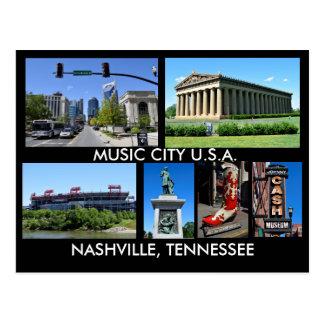 Musik-Stadt USA Nashvilles Tennessee Postkarten