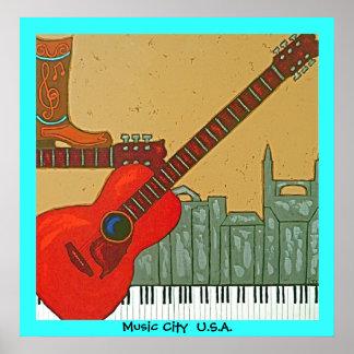 Musik-Stadtplakat Poster
