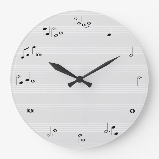 Musik Stempeluhr Grau Große Wanduhr