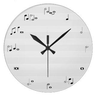 Musik-Stempeluhr - Grau Uhren