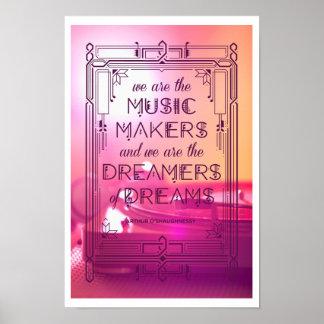 Musik, Träume und Erinnerungen Poster