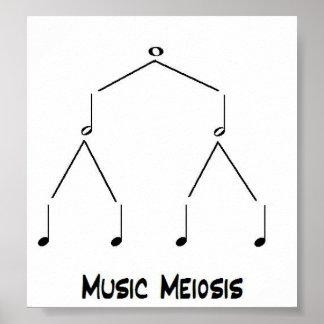 Musik-Verkleinerung Poster