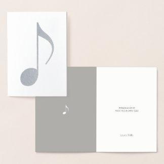musikalische Anmerkung Folienkarte
