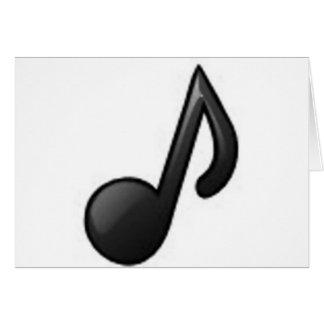 Musikalische Anmerkung Karte