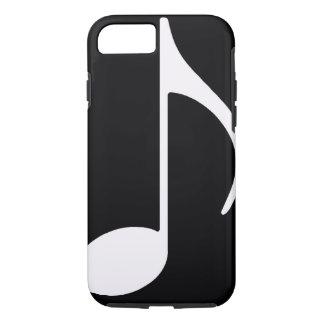 musikalische Anmerkung/Schwarzes iPhone 8/7 Hülle
