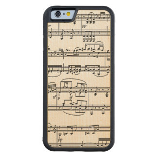 musikalische Anmerkungen Bumper iPhone 6 Hülle Ahorn