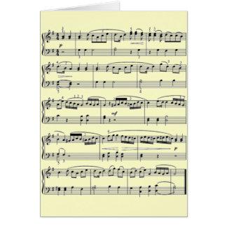 musikalische Anmerkungen Karte