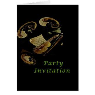 Musikalische Anmerkungen - Party Einladungskarte Karte