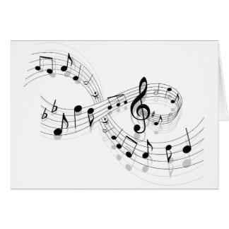 Musikalische Anmerkungen über eine Personal-Linie Karte