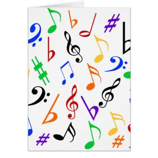Musikalische Anmerkungs-Feiertags-Karte - multi Karte