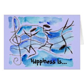 Musikalische Anmerkungs-Glück ist Leben-Set zur Karte