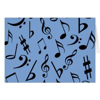 Musikalische Anmerkungs-Karte - Blau Karte