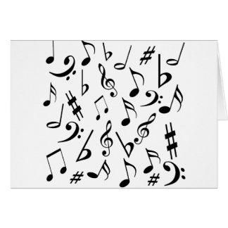 Musikalische Anmerkungs-Karte - Weiß und Schwarzes Karte