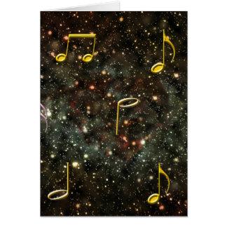 Musikalische Anmerkungs-Melodien-sternenklare Karte