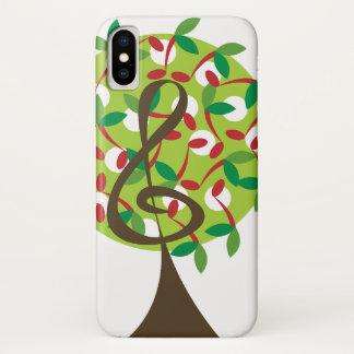 Musikalische dreifache Kirsche merkt iPhone X Hülle