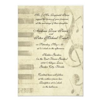 Musikalische Entwurfs-Hochzeits-Einladungen 12,7 X 17,8 Cm Einladungskarte