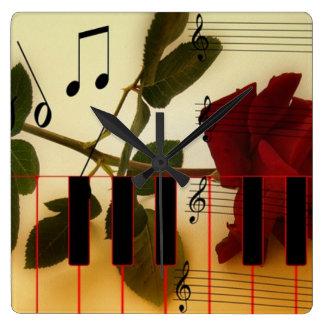 Musikalische Panio Schlüssel Wanduhren