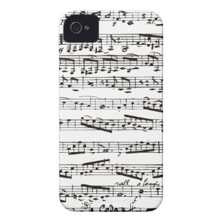 Musikalische Schwarzweiss-Anmerkungen iPhone 4 Hüllen